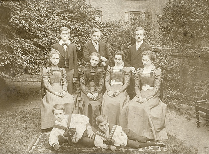 Family at Quex Road.