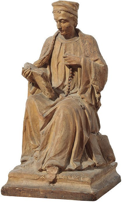 Sculpture of Thomas à Kempis, in terracotta, by Leo Stracké.